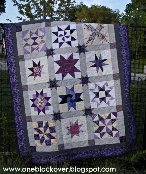 Purple Star Bee Quilt
