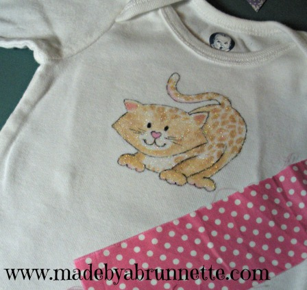 Prepping Onesie for Applique