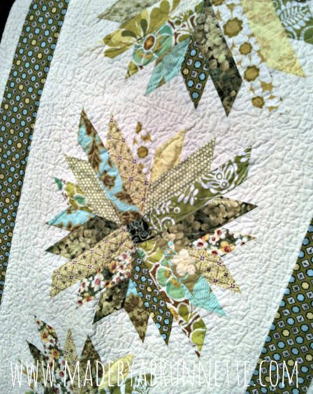 Chrysanthemum Quilt Detail 2