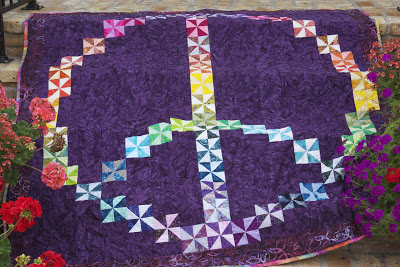 Feeling Groovy Peace Sign Quilt