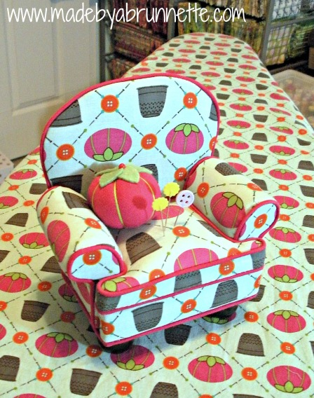 Ironing Board and Chair Pincushion Cut & Sew fabric