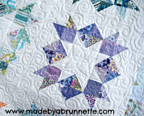 Love in a Mist Quilt Block Detail