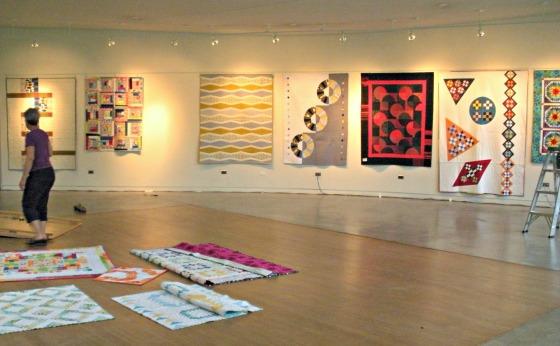 Quilt Show Installation 2