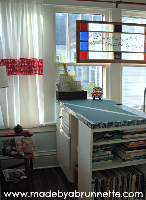 Quilting Sewing Studio North Wall