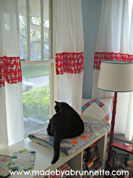 Sewing Quilting Studio Windowseat for cat
