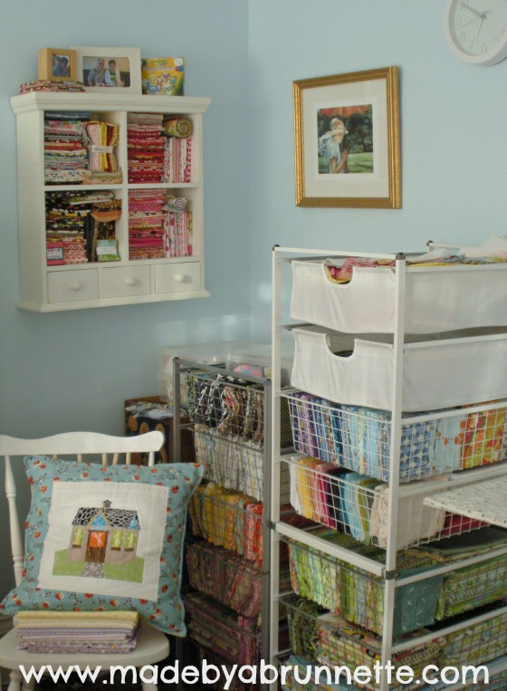 Sewing Quilting Studio Stash Fabric Storage