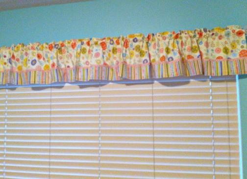 Valance on Wall ruffled girly valance
