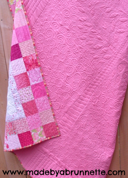 Lilly Pilly Twin Size Quilt Back