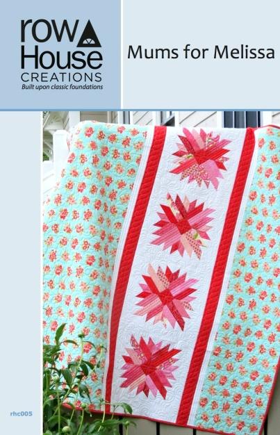 Mums for Melissa Chrysanthemum Quilt Block Modern Quilting
