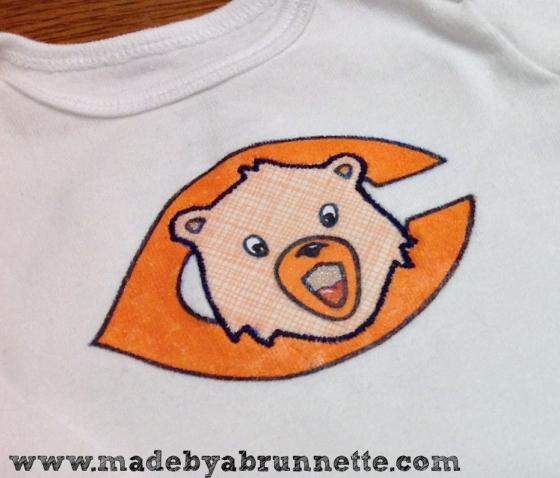 Chicago Bears Onesie Detail
